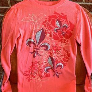 Peach colored shirt size medium